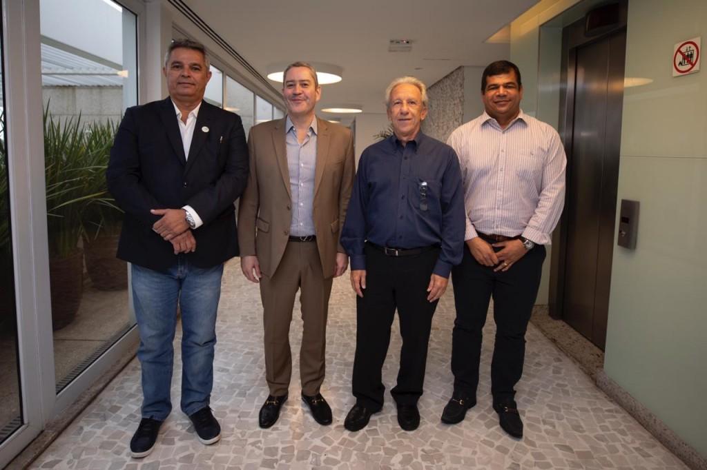 Conselhos Técnicos das Séries A, B, e C/2020 contaram com a presença de Felipe Leite (FENAPAF), Rogério Caboclo (CBF), Zé Mário (FBTF) e Salmo Valentim (ANAF). Fotos CBF.